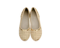 Beige  shoes for girls Royalty Free Stock Photos