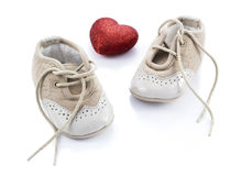 Beige shoes for kids Stock Image