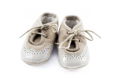 Beige shoes for kids Royalty Free Stock Photos