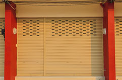 The beige shutter steel door Stock Photos