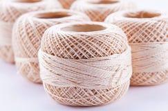 Beige skein of yarn Royalty Free Stock Photo