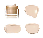 Beige smear paint of cosmetic products Royalty Free Stock Photos