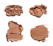 Beige smear paint of cosmetic products Stock Image