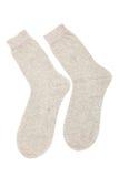 Beige Socken Lizenzfreie Stockbilder