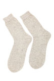 Beige socks Royalty Free Stock Images