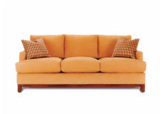 Beige sofa royalty free stock photo