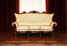 Beige sofa Stock Photography