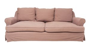 Beige sofa. Simply modern beige sofa isolated on white Stock Photography