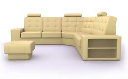 Beige Sofa Lizenzfreie Stockbilder