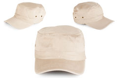 Beige sport hat Stock Images