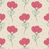 Beige spring or summer seamless pattern Stock Images