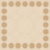 Beige Square Frame One Stock Photography