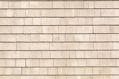 Beige stained cedar shingles Stock Photography