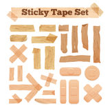 Beige Sticky Tape Set Royalty Free Stock Photos