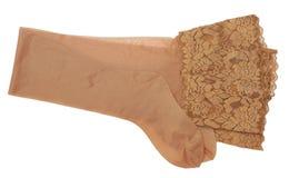Beige stockings Stock Photos