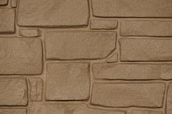 Beige stone building Royalty Free Stock Images