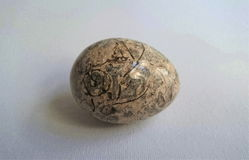 Beige Stone Egg Royalty Free Stock Images