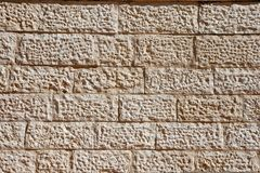 Beige stone wall texture Stock Photography