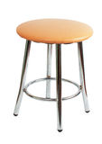Beige stool with metal legs Stock Image
