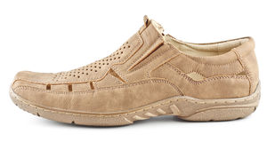 Beige Suede Shoe Royalty Free Stock Photos