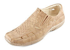 Beige Suede Shoe Royalty Free Stock Photography