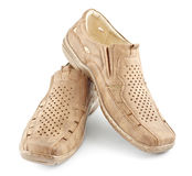 Beige Suede Shoes Royalty Free Stock Image