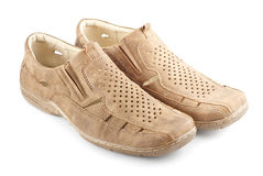 Beige Suede Shoes Stock Image