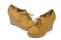 Beige Suede Shoes Stock Photography