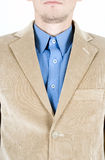 Beige suit Stock Photography
