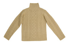 Beige sweater. Isolated on white Stock Images