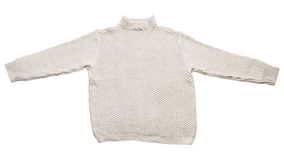 Beige sweater isolated Stock Image