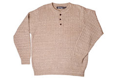 Beige sweater Royalty Free Stock Photo