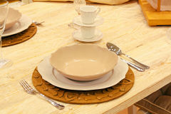 Beige tabletop Royalty Free Stock Photo
