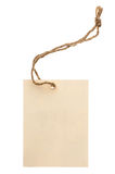 Beige tag isolated Stock Image