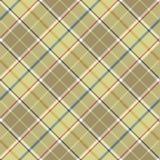 Beige tartan diagonal fabric texture seamless pattern Stock Photo