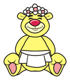 Beige teddy bear groom Royalty Free Stock Photography