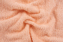 Beige terry towel Stock Image