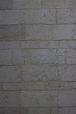 Beige textur för stentegelplattavägg Royaltyfri Fotografi