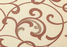 Beige texture with ornament. Close up. Royalty Free Stock Photos