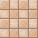 Beige tile pattern Stock Photography