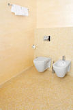 Beige toilet Royalty Free Stock Images