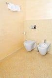 Beige Toilette Lizenzfreie Stockbilder