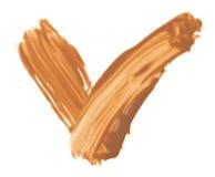 Beige tone cream (foundation) OK samples Stock Photo
