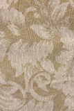 Beige Tone Floral Fabric Patte Stock Photo