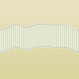 Beige Torn Paper Reveal Stripes Panel. Background design with beige paper torn to reveal a stripes pattern behind Royalty Free Stock Photos
