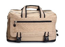 Beige travel bag Royalty Free Stock Photography