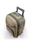 Beige travel suitcase Stock Image