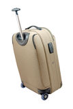 Beige travel suitcase Royalty Free Stock Photo