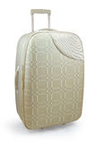 Beige travel suitcase Stock Photography