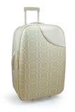 Beige travel suitcase Stock Photography